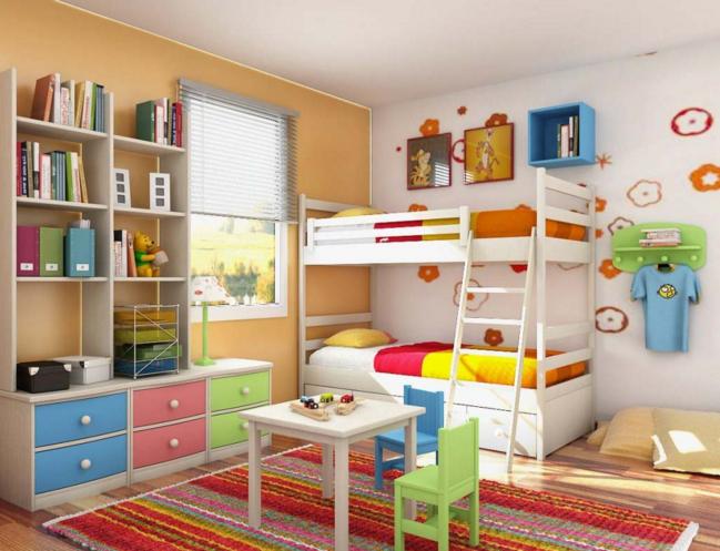 Childrens Bedroom Interior Design Childrens Bedroom Interior Design Ideas For Two Or Twins Colorful