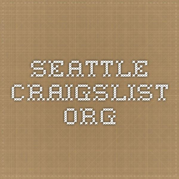 seattle.craigslist.org | Job, Event, Seattle