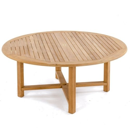 6 Ft Round Buckingham Teak Dining Table With Images Teak Patio