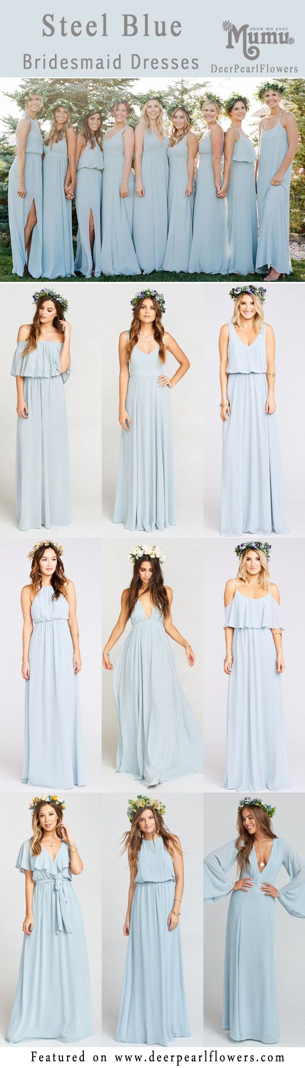 Wedding gown color blue  Top  Bridesmaid Dresses Color Trends for   Bridesmaid Dresses
