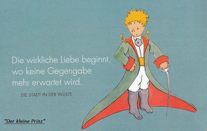Zitat Aus Der Kleine Prinz Von Antoine De Saint Exupéry