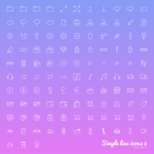 100 Simple Outline Icons (With images) Free icons, Line