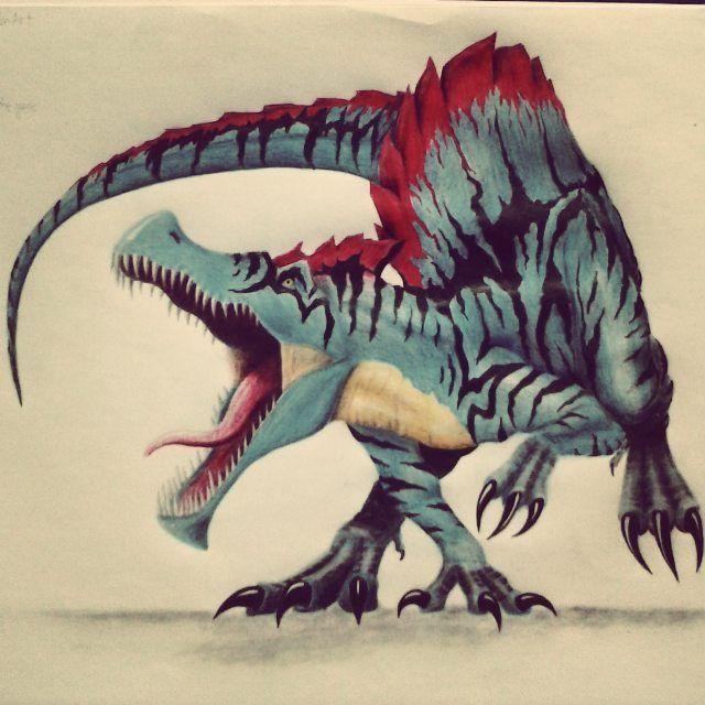 Xero • Male • Evolved Spinosaurus • Mate: Regi (Birdy's OC ...