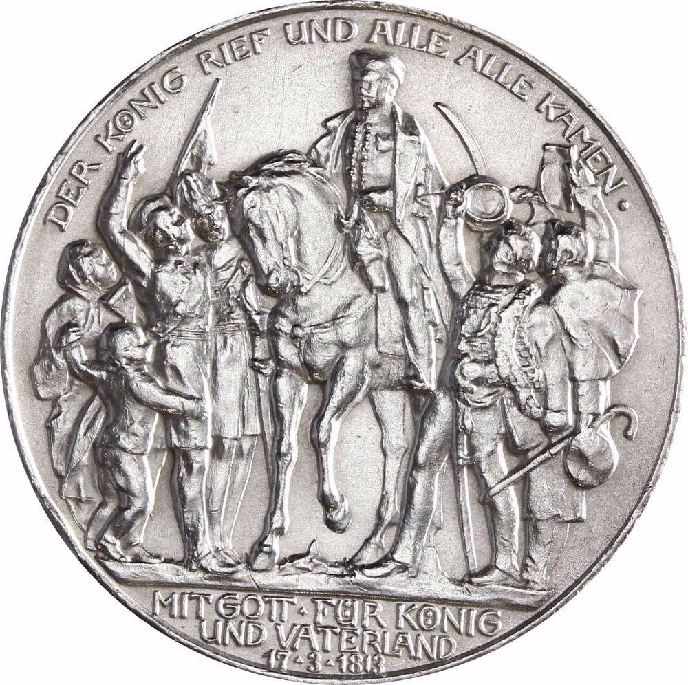 "Jäger 110 Preußen 3 Mark Silber "" Der König rief"