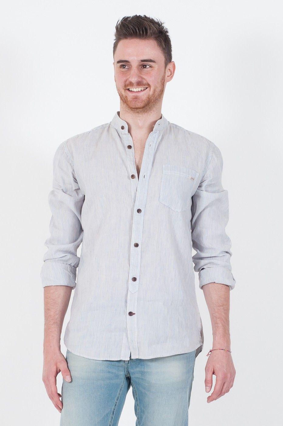 #Camicia da #uomo #Jack&Jones #Vintage Clothing. - Fantasia Microriga -  Collo