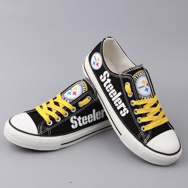 Stand out from the crowd with Pittsburgh Steelers team spirit in these  adorable Converse style sneakers that have handmade Pittsburgh Steelers  designs.