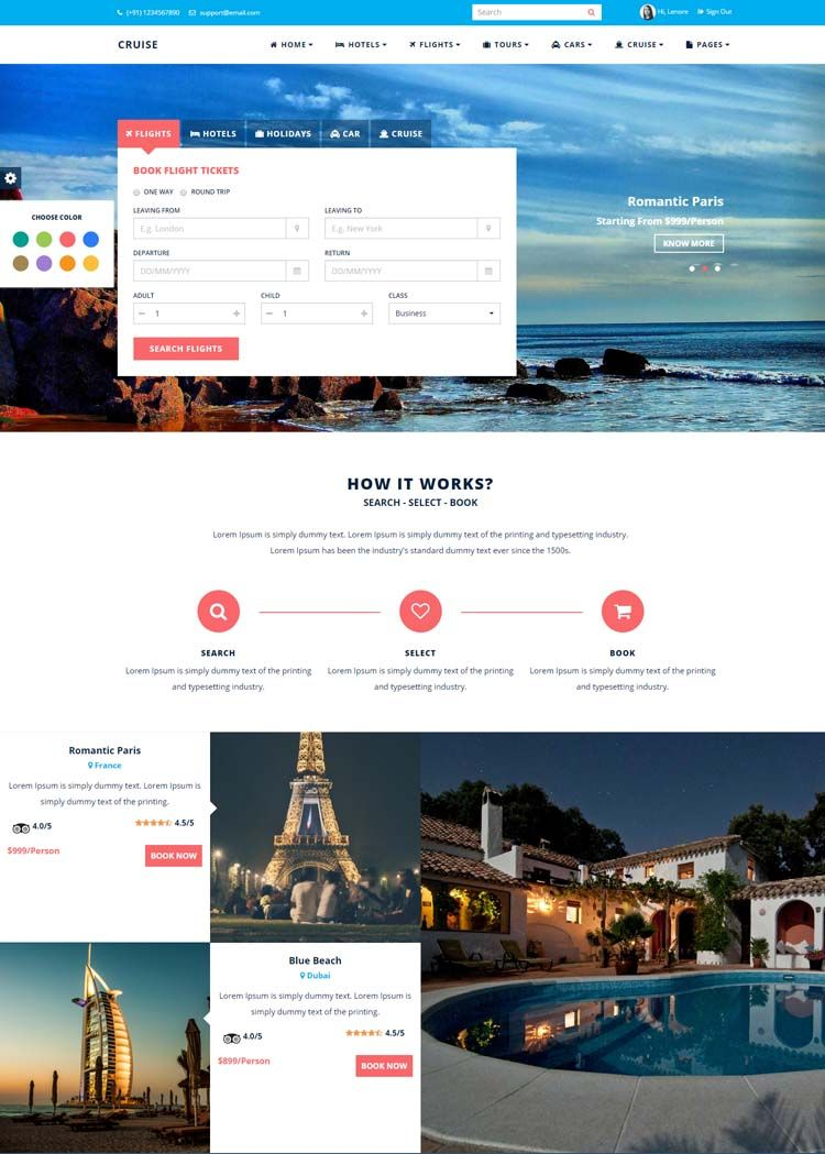 10 Best Hotel Website Templates For Hotel And Travel Booking Sites