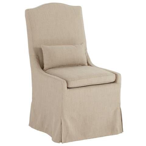 Juliete Hamlet Pebble Slipcover Dining Chair 8g652