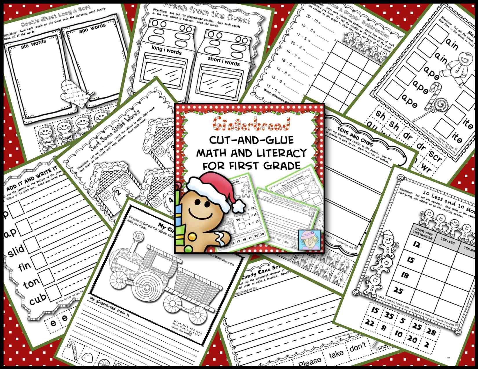 Gingerbread Man Activities 1st Grade Math Amp Literacy