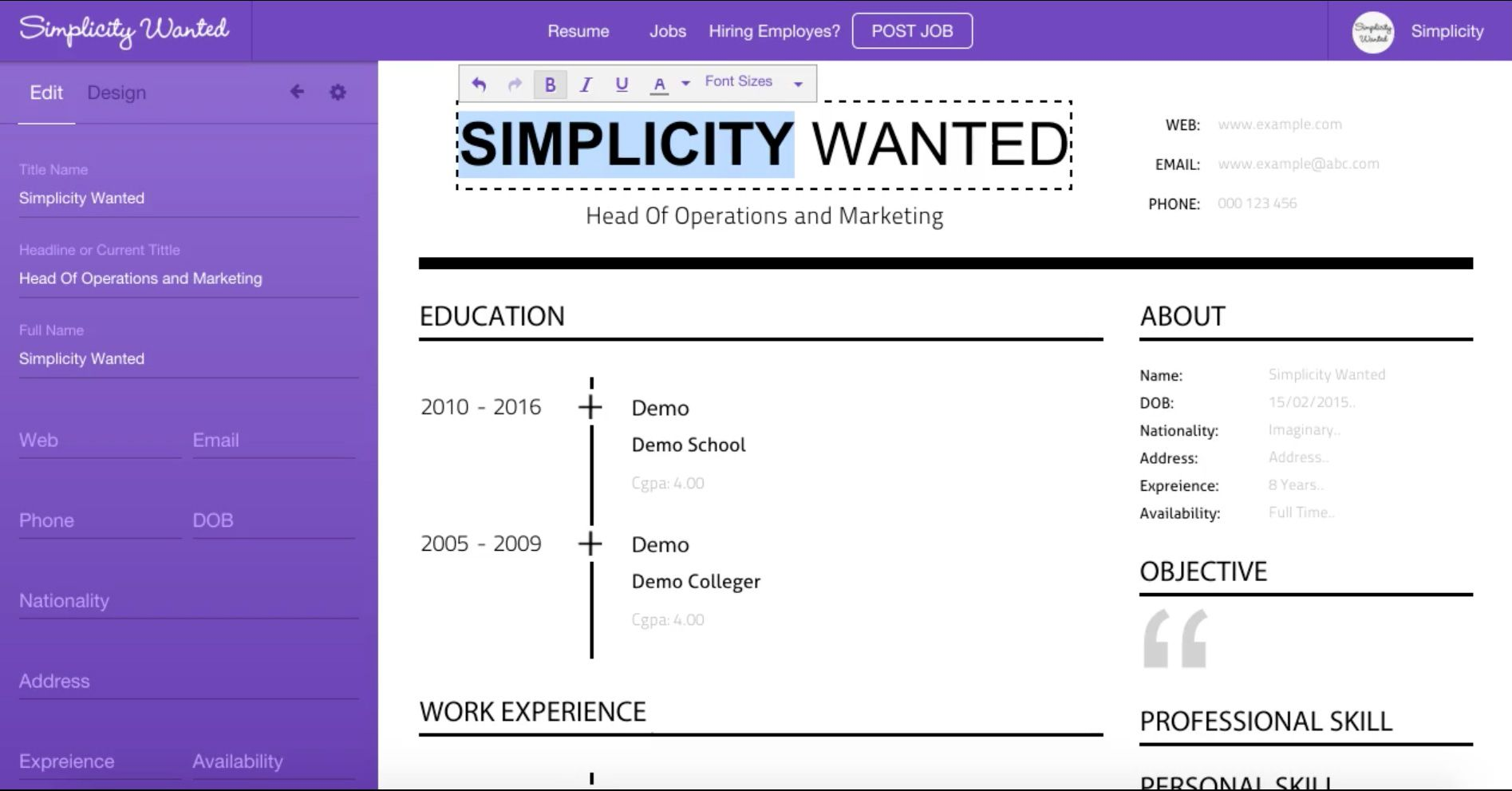 Resume Builder Resume builder, Online resume, Online