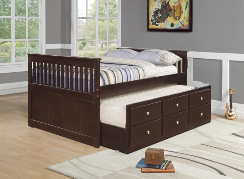 Donco Kids Full Captains Trundle Bed 303 Fcp Trundle Bed With Storage Twin Trundle Bed Kids Beds With Storage