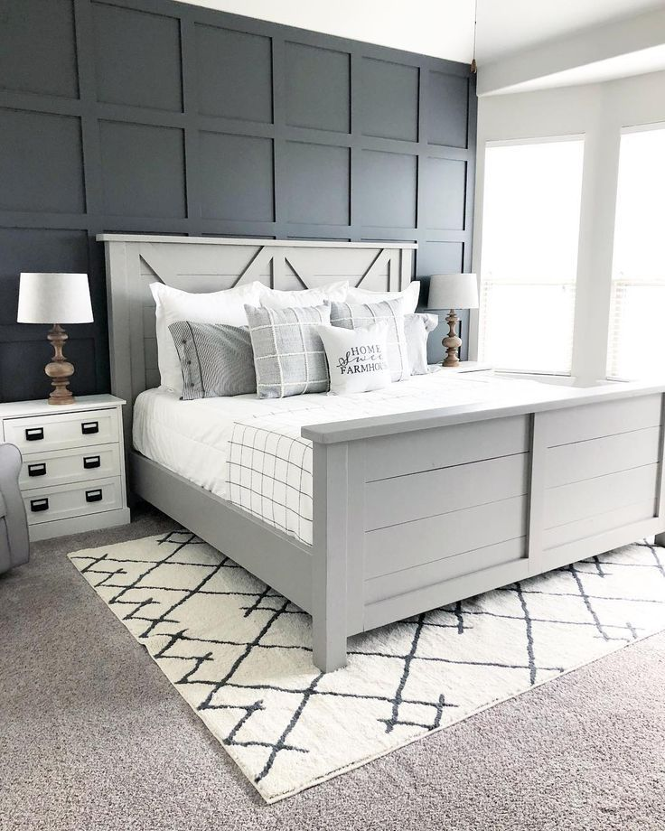 Romantic Bedroom Decorating Ideas Cheap Modern Bedroom Cupboards Design Purple And Blue Bedroom Ideas Bedroom Ideas Dark Furniture: Our Faux Farmhouse Master Bedroom