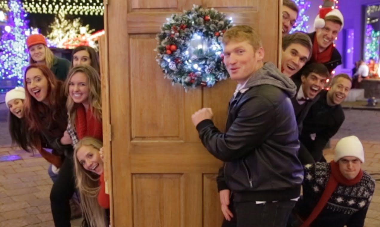 acapella group surprises people with instant christmas caroling