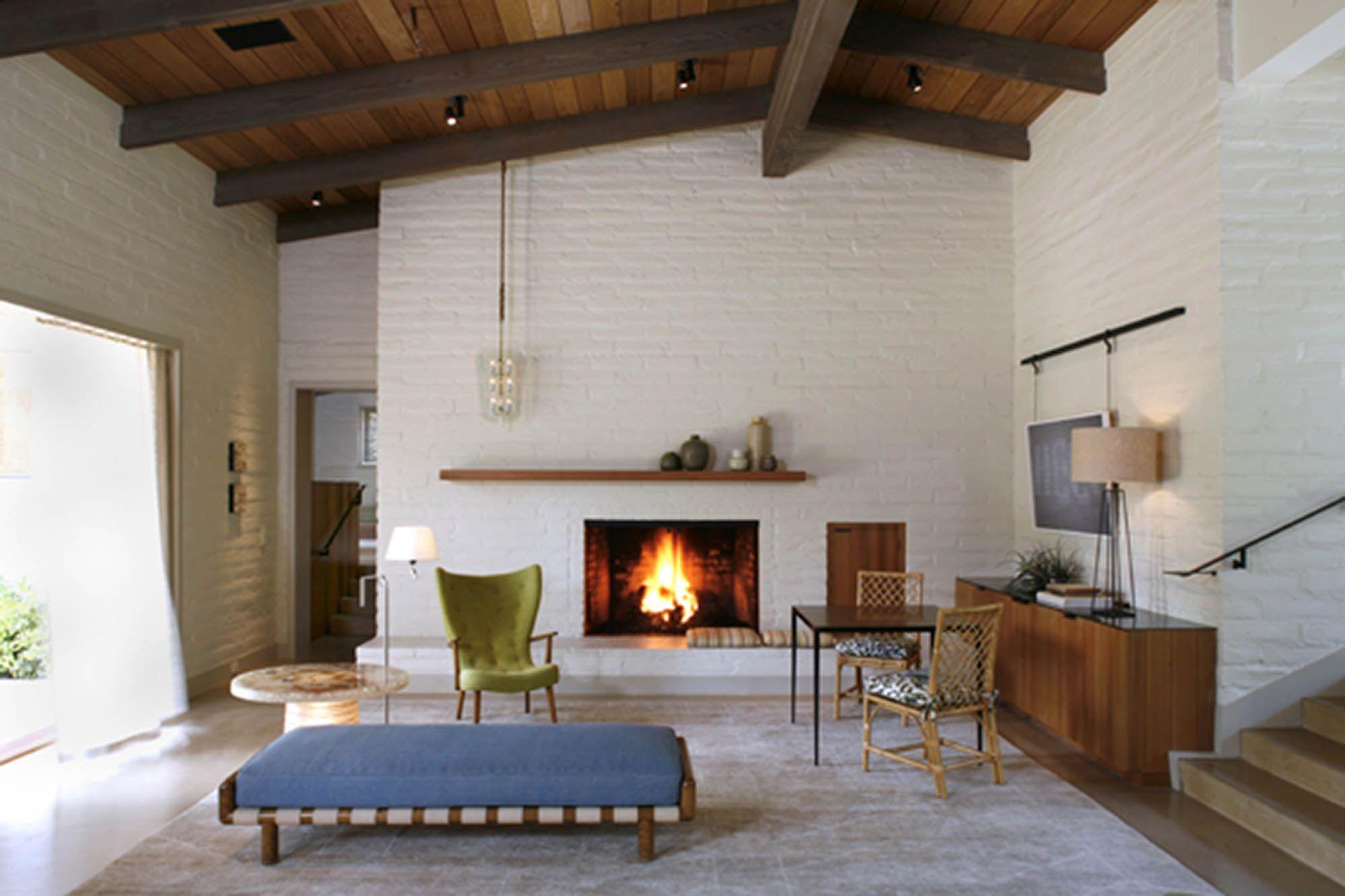 Mid Century Modern Renovation Modern Fireplace Mantels Modern