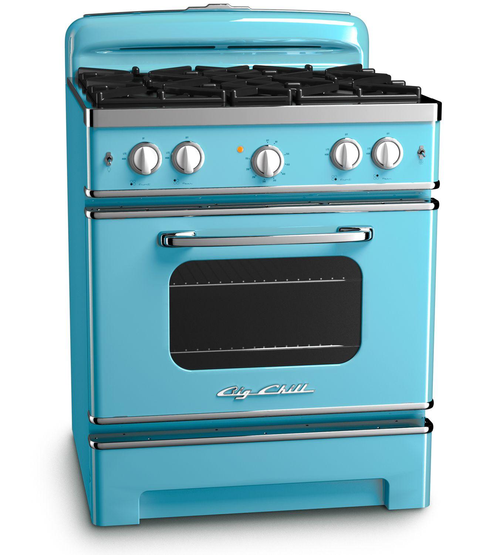 Beach Blue Retro Stove By Big Chill Bigchill Retro Range Appliance Kitchen Color Retrorange Vinta Retro Kitchen Appliances Retro Stove Retro Appliances
