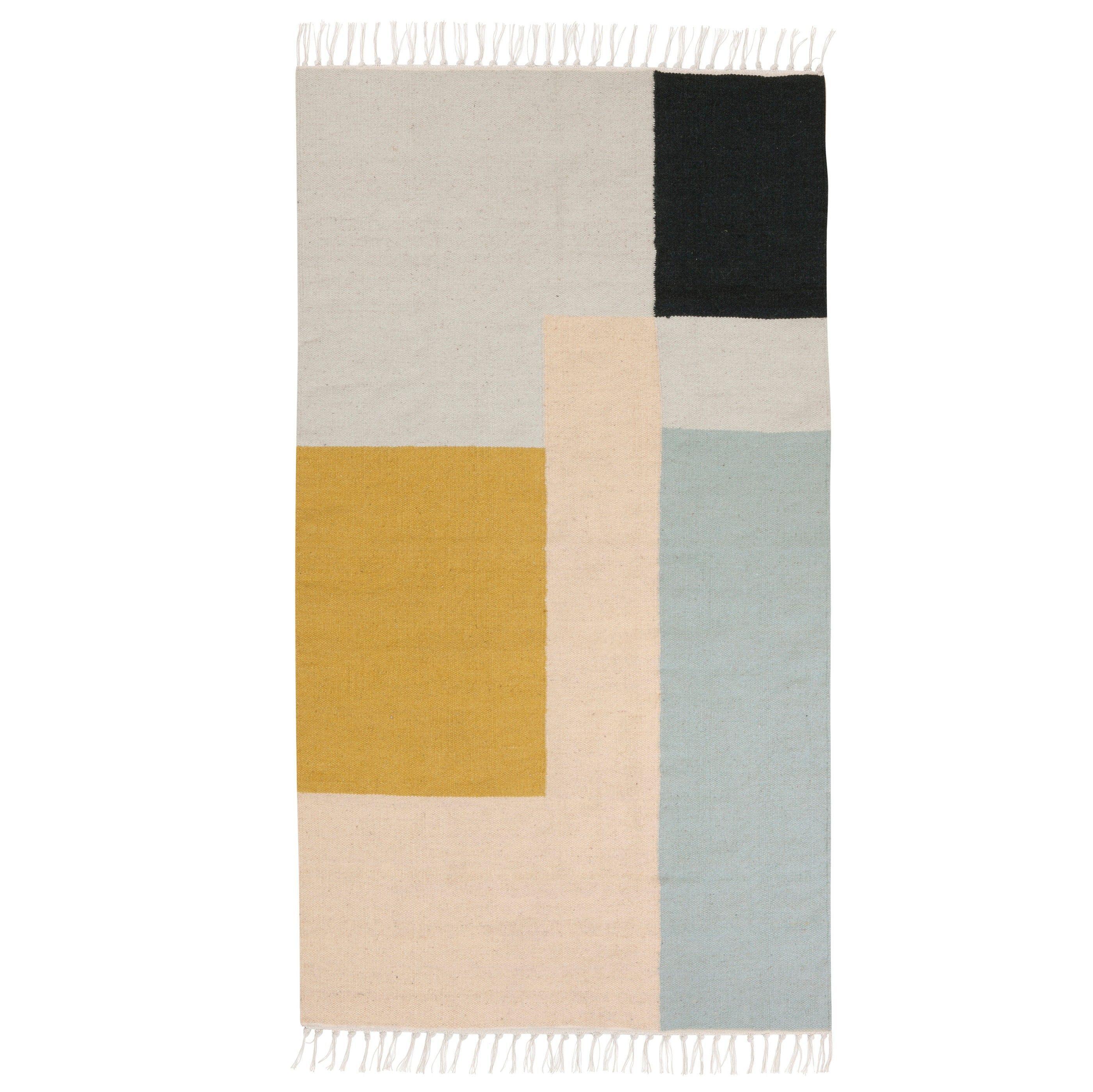 Kelim Vloerkleed Squares Small 80x140 Ferm Living Teppich Kelim Teppich Teppich Reinigen