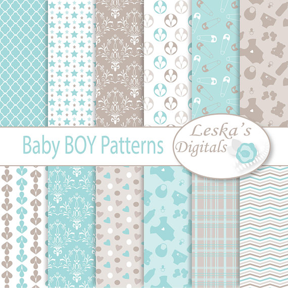 BABY BOY BACKGROUND, Baby Boy Digital Paper, Digital