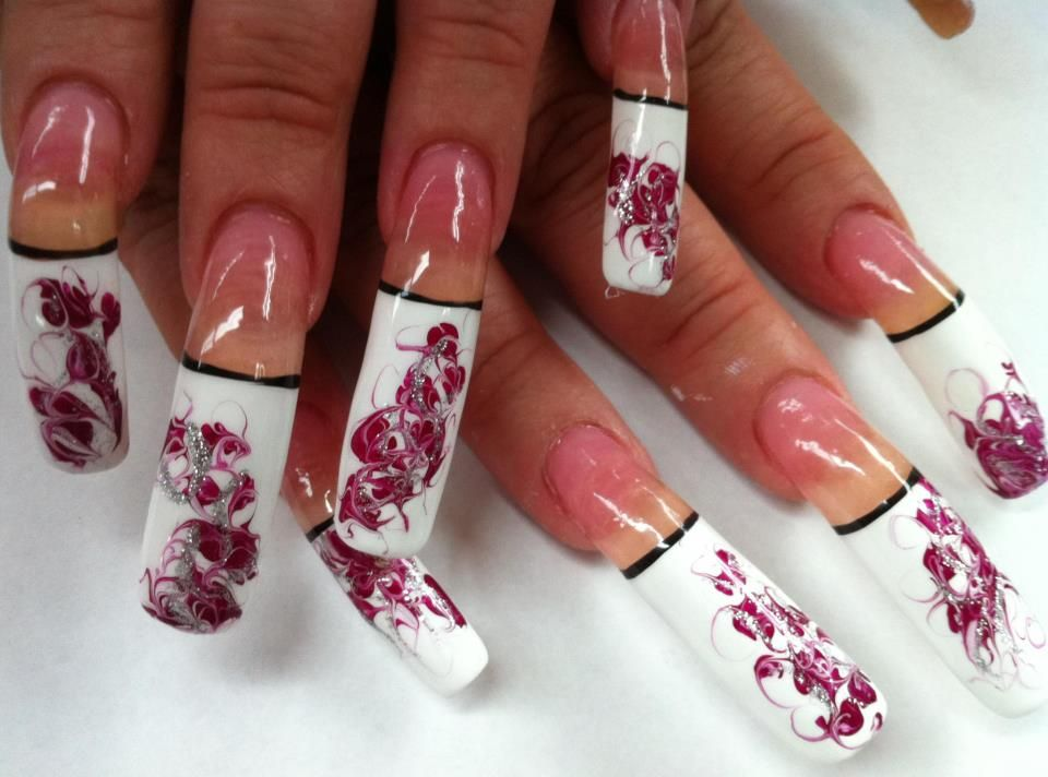 Long nails nail designs pinterest long acrylic nails nail long nails long nail artlong prinsesfo Images
