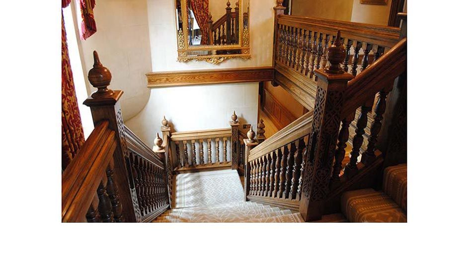 Old World Feel   Oak Staircases   Bespoke Carved Oak Staircase, Panelled  Oak Stairs :