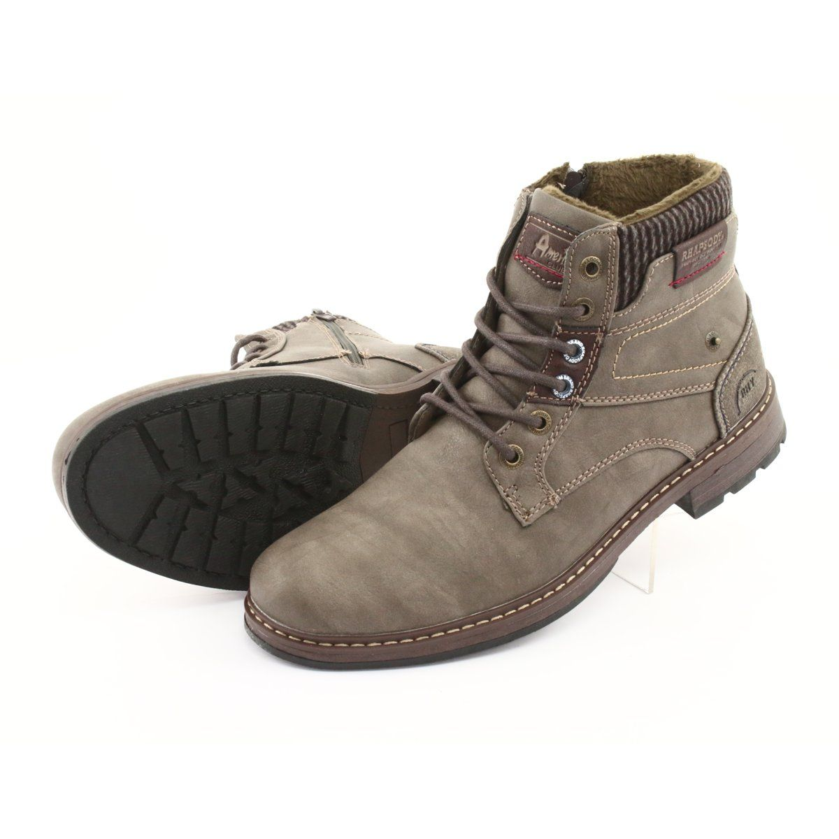 Botki Meskie American Club Rh31 Braz Brazowe Mens Boots Casual Boots Men Boots