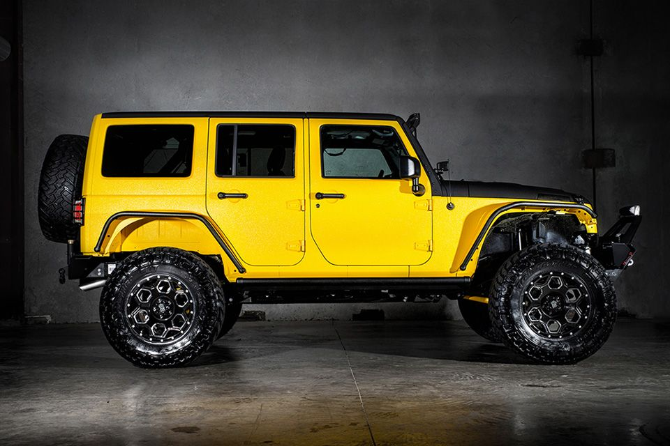Custom Yellow Jeep Wrangler