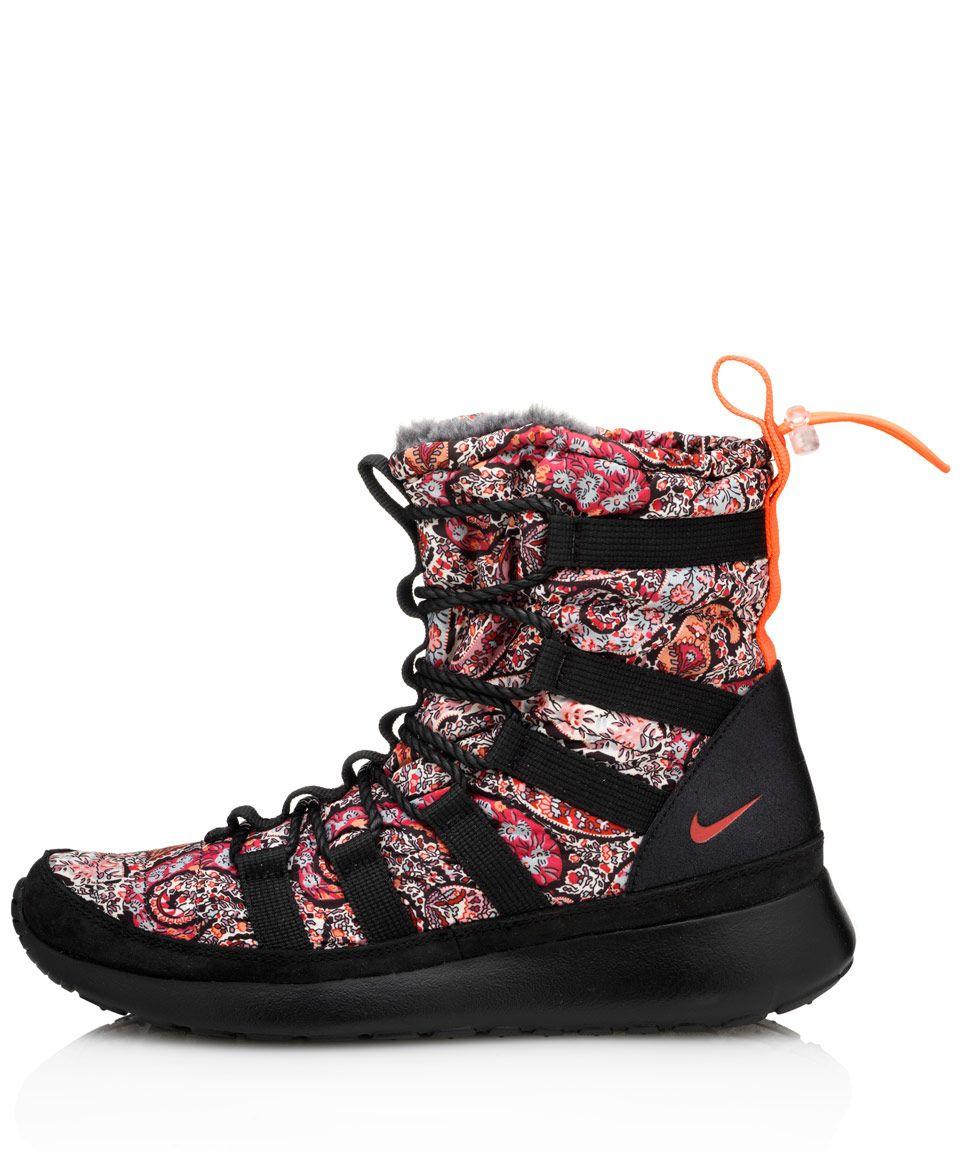 best sneakers 193fe 3a33b Nike X Liberty Black Bourton Liberty Print Roshe Run Sherpa Sneakerboots   Shoes by Nike X Liberty  Liberty.co.uk