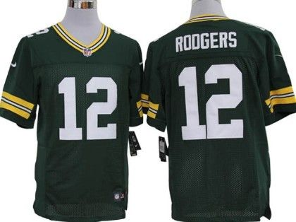 1f6773dcb Nike Green Bay Packers  12 Aaron Rodgers Green Elite Jersey