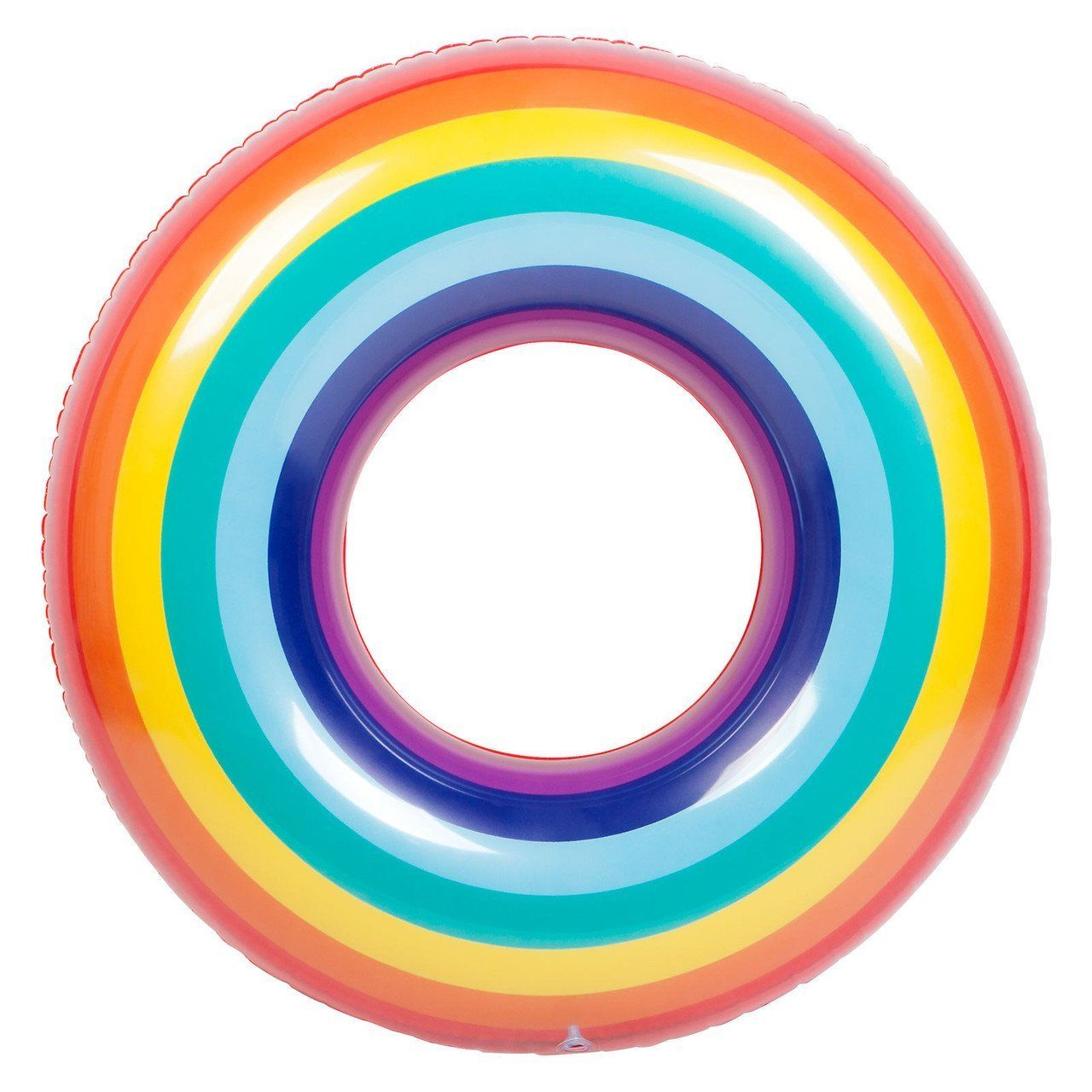 Swimming In A Pool Along With Sunnylife Pool Ring Rainbow Increases The Joy Of Swimming With This Rainbow Pools Inflatable Pool Floats Pool Floats For Adults