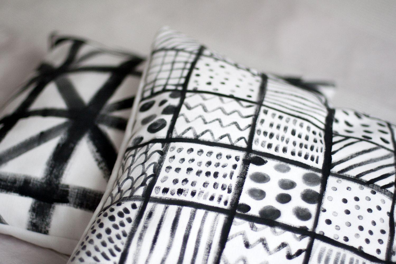 UKKONOOA: Maalatut tyynynpäälliset