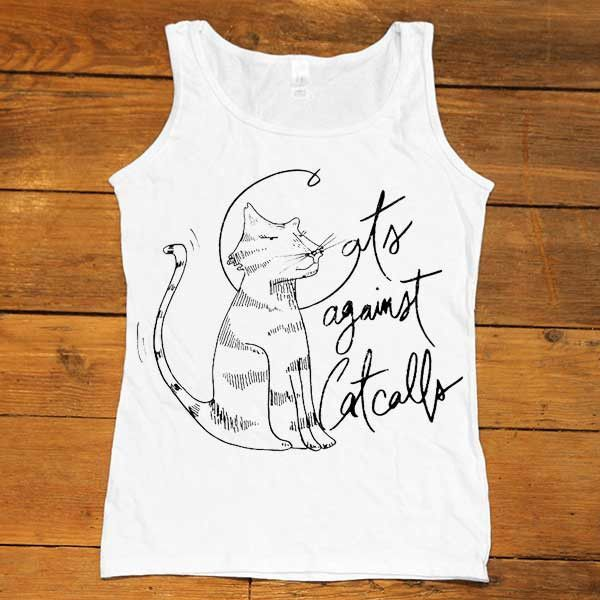 Cats Against Catcalls #2 -- Women's Tanktop