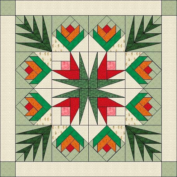 Flowers and Palm Leaves - Paper pieced | 1. Patterns | Pinterest ...