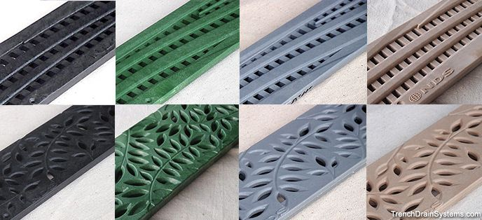 Nds Decorative Grates For Mini Channel Trench Drain