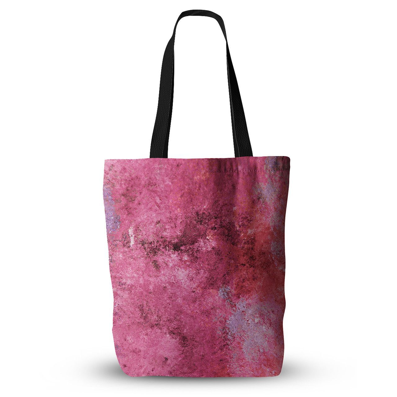 """CarolLynn Tice """"Cotton Candy"""" Red Pink Everything Tote Bag"""
