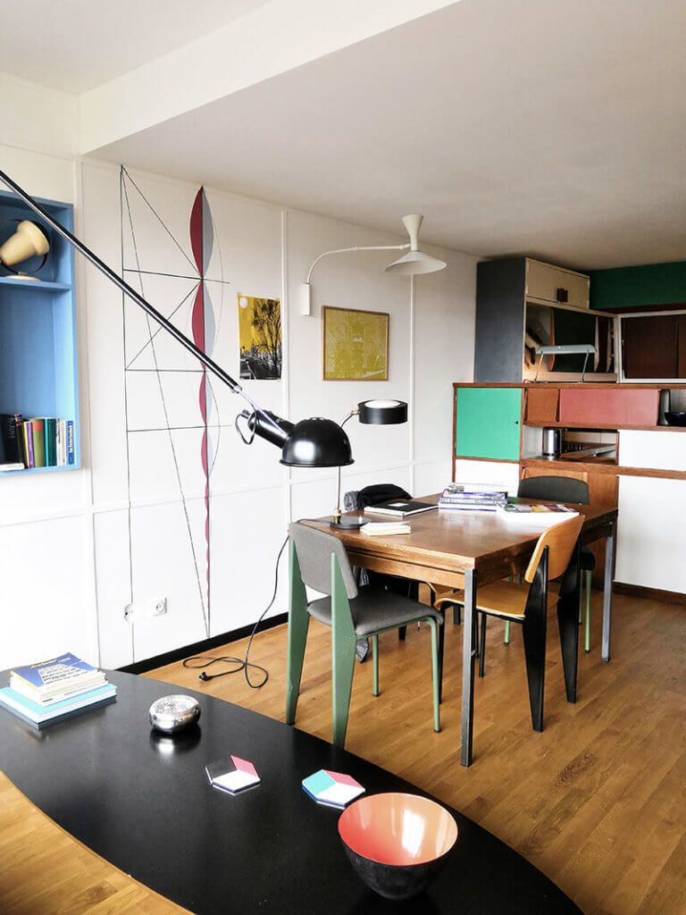 Exklusiver Design Einblick Ins Corbusierhaus In Berlin Inneneinrichtung Wohnen Innenarchitektur