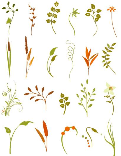 おしゃれな秋の花草イラストプレビュー1 場景 草 イラスト