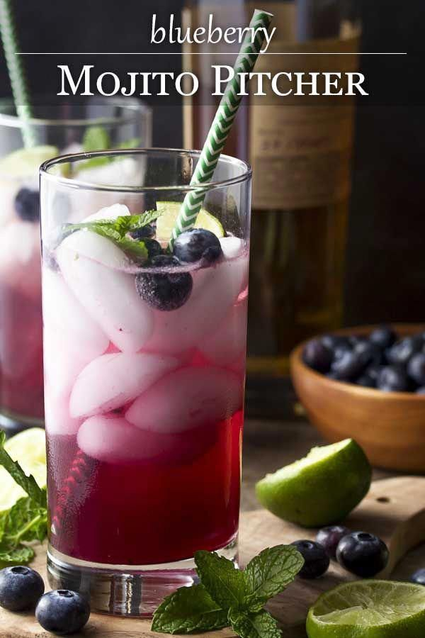 My blueberry mojito pitcher is a fun and easy summer cocktail full of fresh blueberries, mint, lime juice, rum, and simple syrup. Great for a party or a crowd. |