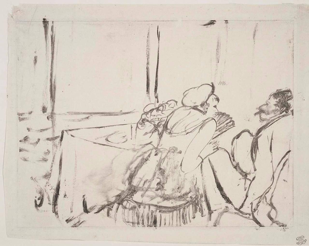 DEGAS, The Private Dining Room 1877u201379, MFA, Monotype
