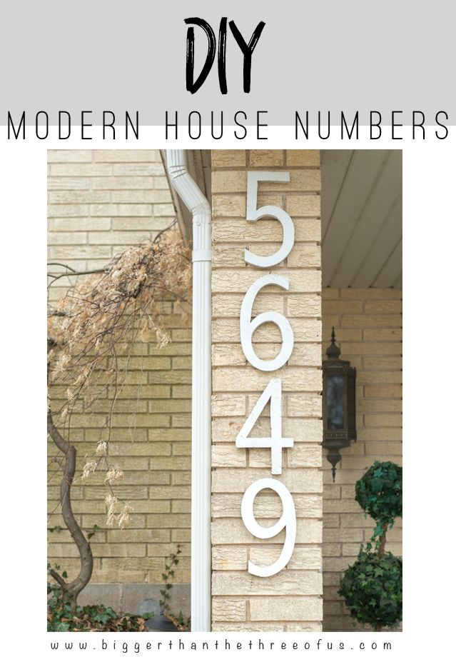 DIY House Numbers out of Plywood for Cheap Diy house numbers