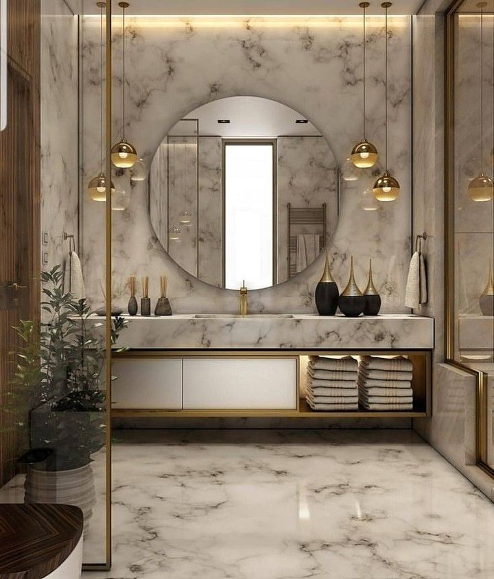 Luxury Interiors Online Store On Instagram Marble Bathrooms Are To Die For By Interiorby San Bathroom Design Modern Bathroom Design Modern Bathroom