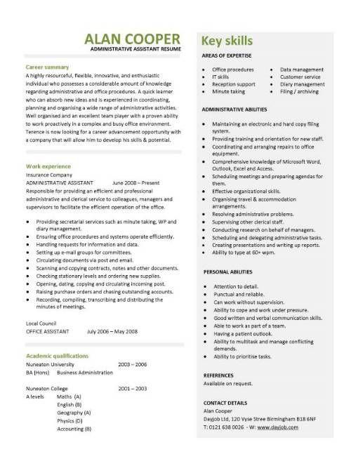 Best Resume Templates Sample -   wwwresumecareerinfo/best