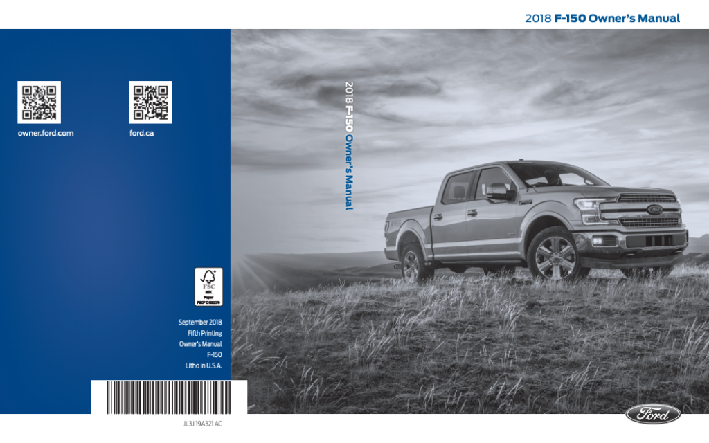 2018 Ford F 150 Owner S Manual Free Pdf Owners Manuals Ford F150 Ford