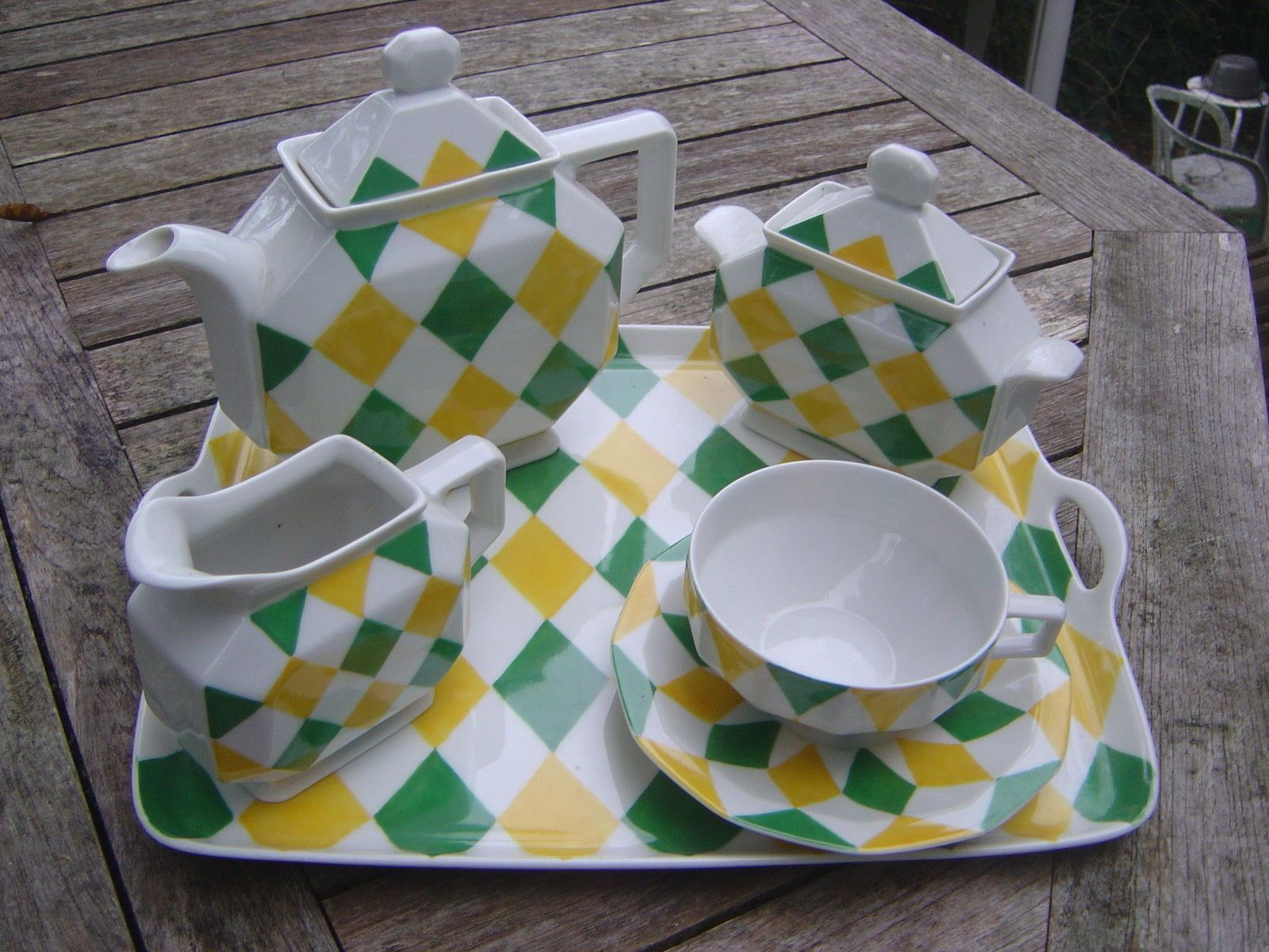Art Deco Bernardaud Limoges Porcelain Tea Set In The