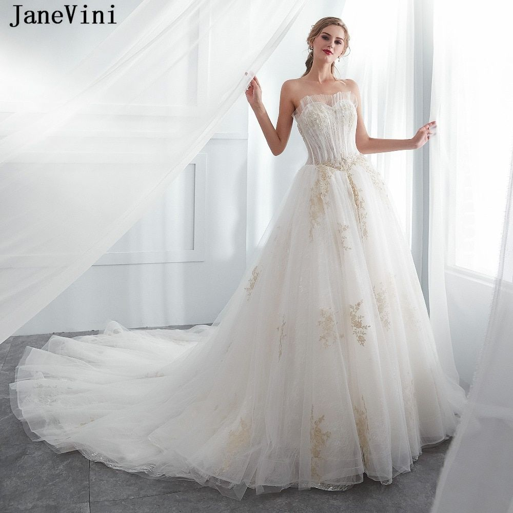 be3aa04ee29 JaneVini Charming Lace Bridesmaid Dresses with Appliques Beaded Sweetheart  A Line Court Train Women Prom Party Gowns for Wedding