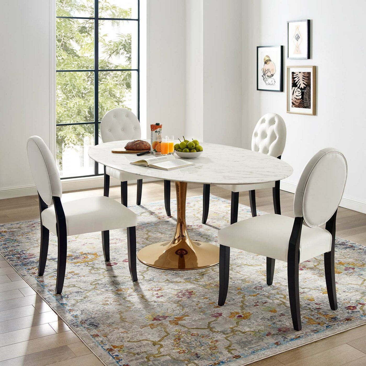 Langley Street Kylee Artificial Marble Oval Shaped Dining Table Reviews Wayfair Oval Table Dining Oval Marble Dining Tables Oval Dining Room Table
