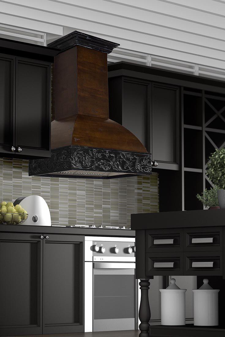 b5f293168ef The ZLINE Kitchen 393AR craftsman wall mount wood range hood has a solid  Birch wood exterior