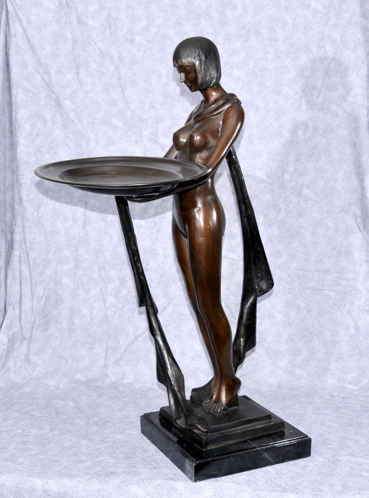 Sweet-Tempered Antique Statue Art Deco Durable Service Antiques