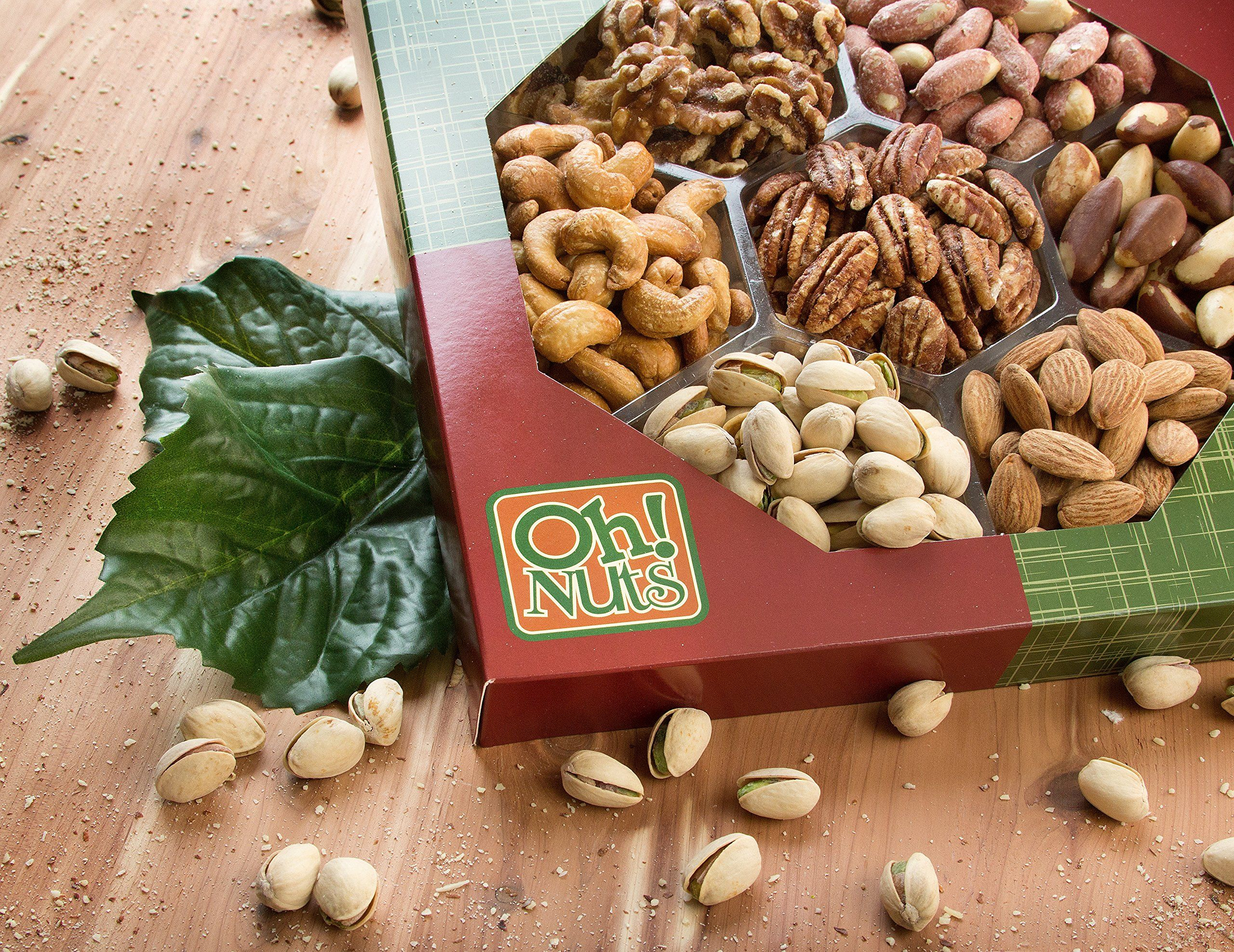 Healthy Snacks Dry Roasted Nuts Unsalted 7 Variety Food Gift No Additives No Oil No Salt Great Gift For Him Or Her Vegans And Vege Variety Food Food Food Gifts