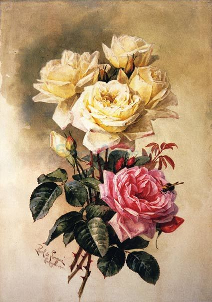 Gallery For > Paintings Of Roses By Famous Artists
