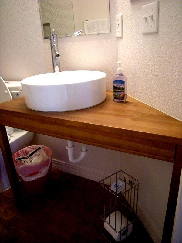 Jokkmokk Angled Vanity Ikea Hackers Corner Sink Bathroom Vanity Bathroom