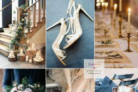 Blue and Gold Wedding Theme for Elegant Winter Wedding | itakeyou.co.uk #weddingtheme